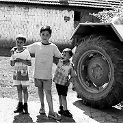 oma in Kosovo, enclave Zitkovac in the outskirt of Pristina.  Roma are segregated and unwanted. They are forced to live in enclaves.  They don´t have access to any health, education, employment and they rely on humanitarian support for food and assistance.