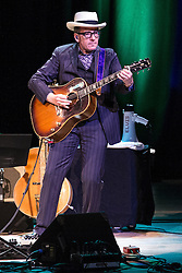 © Licensed to London News Pictures . 14/07/2014 .  Manchester , UK . ELVIS COSTELLO performs on stage at the Bridgewater Hall this evening (Monday 14th July 2014) . Photo credit : Joel Goodman/LNP