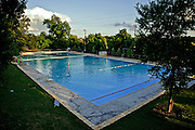 Deep Eddy Pool after renovation, Austin, Texas, May 15, 2012.   Deep Eddy Pool is the oldest swimming pool in Texas and features a bathhouse built by the Works Progress Administration in the 1930s.