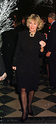 MRS CAMILLA PARKER BOWLES at a party in London on 9th December 1998.<br /> MMU 65
