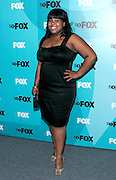 Actress Amber Riley poses at the Fox 2009 Programming Presentation Post-Party Arrivals at Wollman Rink in New York City, USA on May 18, 2009.