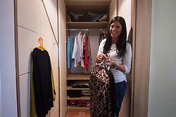 Tanja Glazar, Feng Shui, Using Feng Shui to Organize Your Closet, Feng Shui, ureditev garderobne omare, garderobna omara, obleke, omara, on April 13, 2017, Ljubljana, Slovenia, foto: Photo by Anze Petkovsek / Sportida