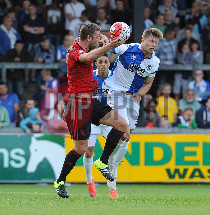 James Clarke of Bristol Rovers - Mandatory by-line: Neil Brookman/JMP - 07966386802 - 31/07/2015 - SPORT - FOOTBALL - Bristol,England - Memorial Stadium - Bristol Rovers v West Brom - Pre-Season Friendly