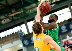 Ivan Marinkovic of Sixt Primorska vs Marvin Jones of Petrol Olimpija during basketball match between KK Sixt Primorska and KK Petrol Olimpija in semifinal of Spar Cup 2018/19, on February 16, 2019 in Arena Bonifika, Koper / Capodistria, Slovenia. Photo by Vid Ponikvar / Sportida