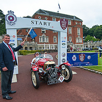 Urs Mezger & Denise Mezger in their Morgan 3 Wheeler on the Royal Automobile Club 1000 Mile Trial 2015
