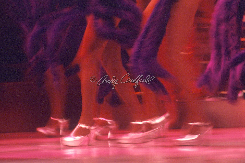 Samba show dancer's legs at Plataforma 1 Club, Rio de Janeiro, BRAZIL