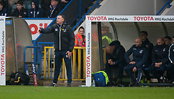 Bristol Rovers manager Graham Coughlan - Mandatory by-line: Jack Phillips/JMP - 02/11/2019 - FOOTBALL - Crown Oil Arena - Rochdale, England - Rochdale v Bristol Rovers - English Football League One