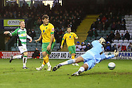 Yeovil - Saturday December 12th, 2009:  Norwich's Chris Martin scores his sides 1st and goal and celebrates during the Coca Cola League One match at Huish Park, Yeovil. (Pic by Paul Chesterton/Focus Images)