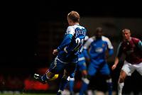 Photo: Alan Crowhurst.<br />West Ham United v Wigan Athletic. The Barclays Premiership. 06/12/2006. Wigan's David Cotterill scores 0-1.