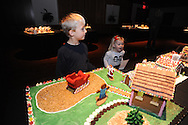 Charlie Samuels (left), with his sister Lorelei, looks over the Gingerbread Village at the Ford Center, in Oxford, Miss., on Monday, December 16, 2013. Story time for younger kids will be on Wednesday at 10:30 a.m. and on Thursday at 3:30 p.m. for older kids. The Gingerbread Village supports local food banks. Visitors are encouraged to bring non-perishable food items to donate.