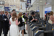 Royal Ascot racegoers at Waterloo station. London. 19 June 2013.
