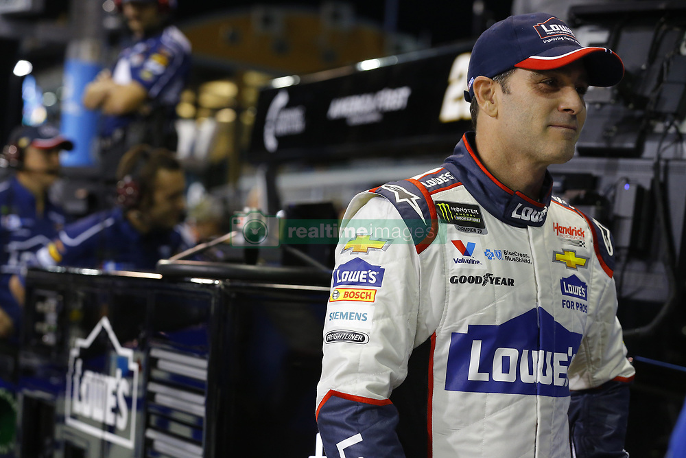 November 16, 2018 - Homestead, Florida, U.S. - Jimmie Johnson (48) hangs out on pit road before qualifying for the Ford 400 at Homestead-Miami Speedway in Homestead, Florida. (Credit Image: © Chris Owens Asp Inc/ASP)