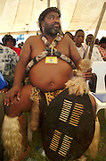 VIP Zulu chief waiting with the other dignataries in the VIP tent..©Zute Lightfoot.DVD0018