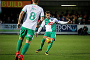 Plymouth defender Gary Sawyer (3) clears the ball during the EFL Sky Bet League 1 match between AFC Wimbledon and Plymouth Argyle at the Cherry Red Records Stadium, Kingston, England on 26 December 2018.