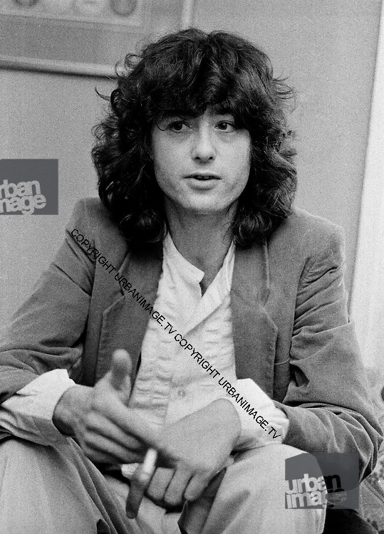 Jimmy Page at CBS records office - London - 1981