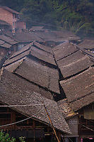View over a yao minority village in Butterfly Valley north of Guilin in Guangxi province.