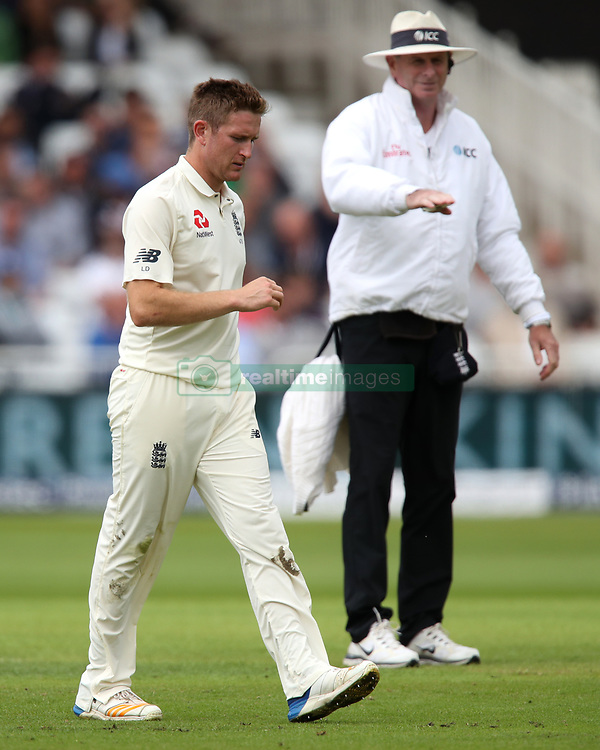 England's Liam Dawson looks dejected during day one of the Second Investec Test match at Trent Bridge, Nottingham.
