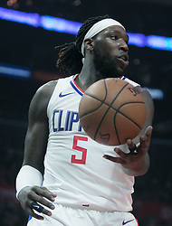 January 16, 2019 - Los Angeles, California, United States of America - Montrezl Harrell #5 of the Los Angeles Clippers during their NBA game with the Utah Jazz on Wednesday January 16, 2019 at the Staples Center in Los Angeles, California. Clippers lose to Jazz, 129-109. JAVIER ROJAS/PI (Credit Image: © Prensa Internacional via ZUMA Wire)