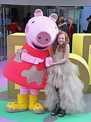 © Licensed to London News Pictures. 01/02/2015, UK. Peppa Pig & Harley Bird, Peppa Pig: The Golden Boots - UK Film Premiere, Odeon Leicester Square, London UK, 01 February 2015. Photo credit : Brett D. Cove/Piqtured/LNP