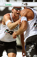 Volleyball Sandvolleyball Beachvolleyball<br />Swatch FIVB World Tour Conoco Phillips Grand Slam<br />Stavanger 270608<br />Foto: Sigbjørn Andreas Hofsmo, Digitalsport<br /><br />Tarjei Skarlund - Jørre Kjemperud