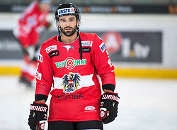 12.02.2016, Olympiaworld, Innsbruck, AUT, Euro Ice Hockey Challenge, Österreich vs Slowakei, im Bild Dominique Heinrich (AUT) // Dominique Heinrich of Austria during the Euro Icehockey Challenge Match between Austria and Slovakia at the Olympiaworld in Innsbruck, Austria on 2016/02/12. EXPA Pictures © 2016, PhotoCredit: EXPA/ Jakob Gruber
