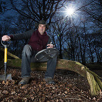 Picture shows Photographer and keen metal detector Andrew Smith during a recent photoshoot in Burnley.<br />