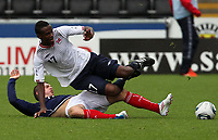 Football - International Under 21 Friendly - Scotland U21 vs. Norway U21<br /> <br /> Scotland vs Norway U21<br /> International Challenge Match, New St Mirren Park, Paisley.<br /> Scotland's Greg Wilde challenges Norway's Abdisalam Ibrahim<br /> 10th August 2011<br /> <br /> Ian MacNicol/Colorsport