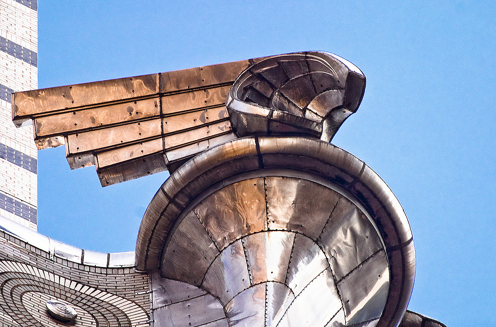 Built in 1930, the giant, winged Art Deco metal ornaments adorning the Chrysler Building's 31st floor were patterned after the radiator caps on 1929 Chrysler automobiles.