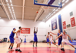 Daniel Edozie of Bristol Flyers scores a free throw  - Mandatory byline: Joe Meredith/JMP - 11/12/2015 - Basketball - SGS Wise Campus - Bristol, England - Bristol Flyers v Plymouth Raiders - British Basketball League