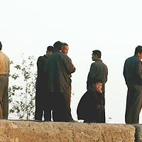 SHINIUJU, OCTOBER-26: workers  in the China-bound  port of  Shiniuju,October 26,2006.