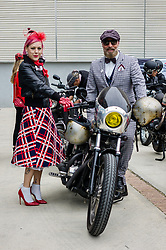 September 30, 2018 - Milan, Italy - The Distinguished Gentleman's Ride is a bike show born as a fund raising for the medical research. (Credit Image: © Daniele Baldi/Pacific Press via ZUMA Wire)