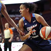 UNCASVILLE, CONNECTICUT- MAY 05:  Cierra Burdick #11 of the Atlanta Dreamduring the Atlanta Dream Vs Chicago Sky preseason WNBA game at Mohegan Sun Arena on May 05, 2016 in Uncasville. (Photo by Tim Clayton/Corbis via Getty Images)