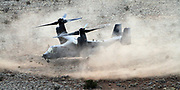 gbs02115c/ASEC -- A CV-60G Pave Hawk with the 58th Special Operations Wing from Kirtland Air Force Base lands at a training area on a mesa southwest of the base on Wednesday, February 11, 2015. Col. Daguin Anderson said New Mexico provides the type of altitudes and terrain similar to areas in Iraq, Afganistan and Africa for training. (Greg Sorber/Albuquerque Journal)