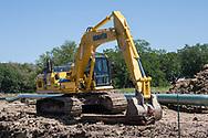 Bayou Bridge Pipeline construction  in Crowley Louisiana.
