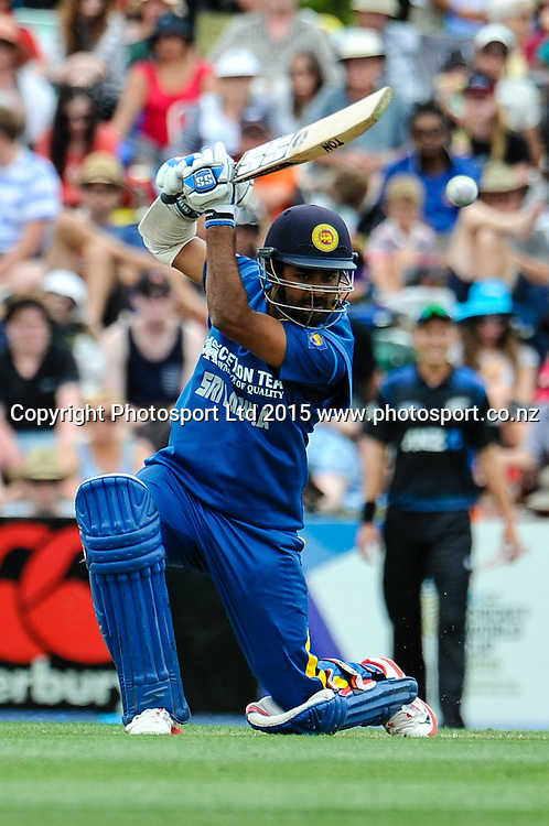 Lahiru Thirimanne of Sri Lanka in action in the first ODI, Black Caps v Sri Lanka, at Hagley Oval, Christchurch, 11 January 2015. Photo:John Davidson/www.photosport.co.nz