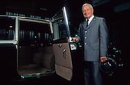 Mr. Raimondo formal driver of the Prince come back to the Palace to see the Daimler he has driven. Palace of Monaco   Mr Raimondo ex chauffeur du prince (aujourd'hui a la retraite) revient voir la  Daimler Officielle MC2  (la Rolls MC1 est au musée).qu'il a conduit.il a travaillé au service du prince pendant 40 ans. apres guerre il fallait  11h en traction pour rejoindre Paris . Depuis 6 ans ce sont les carabiniers qui assurent le rôle privé de chauffeur  P0005221  L1489  R150/81
