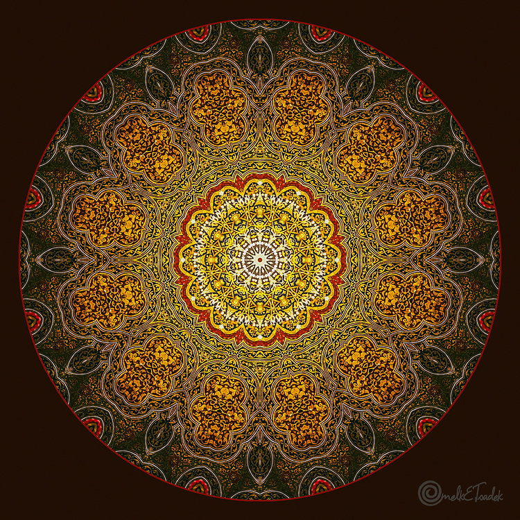 Ornate Visions, is inspired by the remarkable symmetry exhibited in Islamic Art as well as in the Qur'an with its unique literary structure of ring composition.