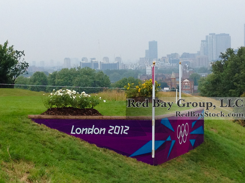 Scenes around the cross-country course at the Greenwich Park venue of the 2012 London Olympic Games.
