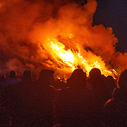 NLD/Dijkerrhoek/20160327 - Grootste paasvuur van Nederland 2016 in Dijkerhoek,