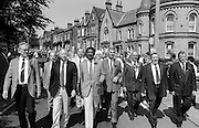 Front of march. 1992 Yorkshire Miners Gala, Barnsley.