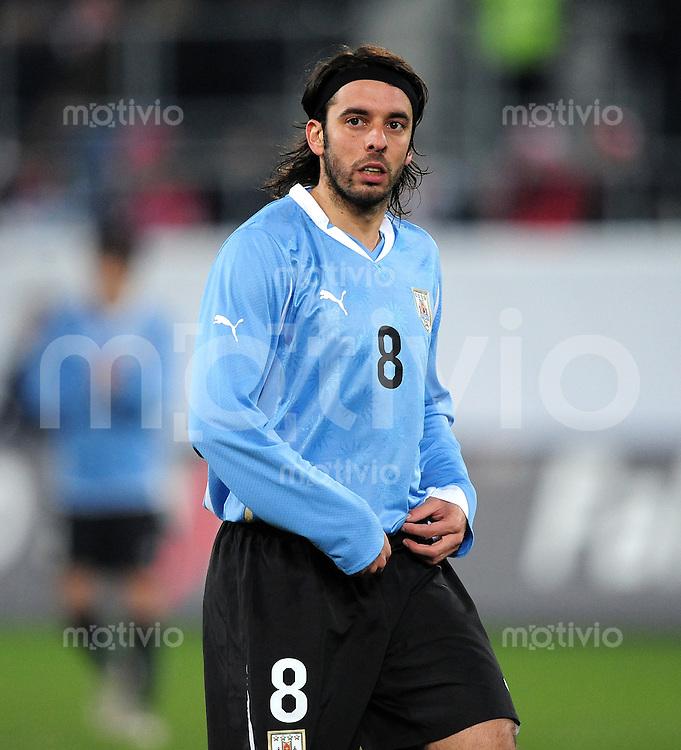 Fussball International:  Testspiel  03.03.2010 Schweiz - Uruguay Jorge Martinez (URU)