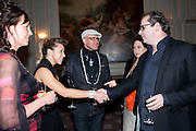TANYA COLERIDGE; MAIA HIRST; SIMON COSTIN, Dinner to mark 50 years with Vogue for David Bailey, hosted by Alexandra Shulman. Claridge's. London. 11 May 2010 *** Local Caption *** -DO NOT ARCHIVE-© Copyright Photograph by Dafydd Jones. 248 Clapham Rd. London SW9 0PZ. Tel 0207 820 0771. www.dafjones.com.<br /> TANYA COLERIDGE; MAIA HIRST; SIMON COSTIN, Dinner to mark 50 years with Vogue for David Bailey, hosted by Alexandra Shulman. Claridge's. London. 11 May 2010