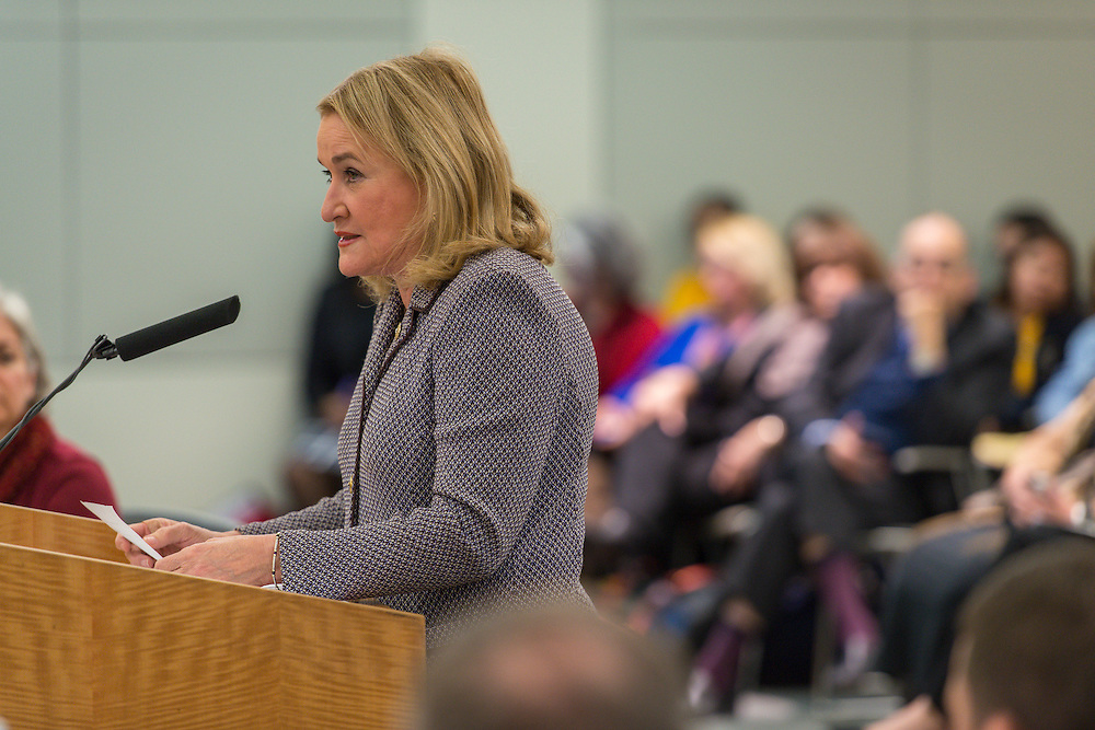 Sylvia Garcia comments during a meeting of the Houston ISD Board of Trustees, January 14, 2016.