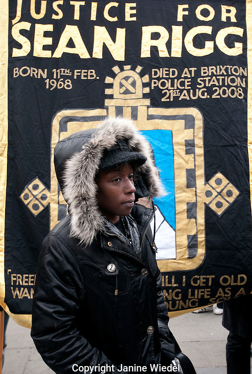 14th Annual  Friends & Family Campaign protest against death in custody 2012 London. Sean Rigg died in police custody 2008 custody.