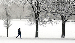 Licensed to London News Pictures 21/01/2015<br /> Snowy conditions, The Stray, Harrogate, North Yorkshire, England<br /> Photo Credit: Sam Atkins/LNP