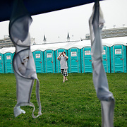 Alex, Caldwell took a photo of his friends infield party tent which was strung with bras during the 136th running of the Kentucky Derby at Churchill Downs Saturday May 1, 2010. The bras were used to sneak booze into the Derby and as tradition dictates, they are hung on the tent as flags. Photo by David Stephenson
