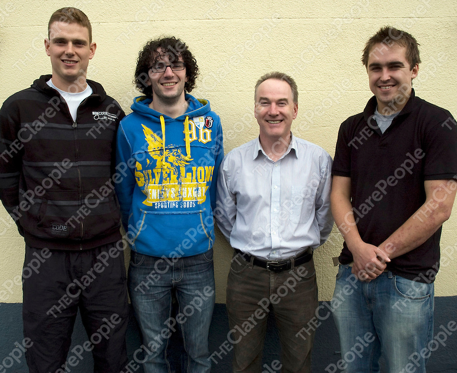 The GMIT Letterfrack team in this year&Otilde;s National Skills Competition (from left): competition winner, Gerard O&Otilde;Loughlin from Ballyea, Inagh; Daniel McNamara from Carramore, Liscarney, Westport; Anthony Clare, lecturer and Russell Jacob from Shroughmore, Enniscorthy, Co Wexford who  also competed in the final.<br /> The GMIT Letterfrack team in this year&rsquo;s National Skills Competition (from left): competition winner, Gerard O&rsquo;Loughlin from Ballyea, Inagh; Daniel McNamara from Carramore, Liscarney, Westport; Anthony Clare, lecturer and Russell Jacob from Shroughmore, Enniscorthy, Co Wexford who  also competed in the final.