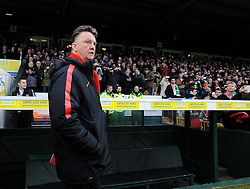 Manchester United Manager, Louis van Gaal  - Photo mandatory by-line: Joe meredith/JMP - Mobile: 07966 386802 - 04/01/2015 - SPORT - football - Yeovil - Huish Park - Yeovil Town v Manchester United - FA Cup - Third Round