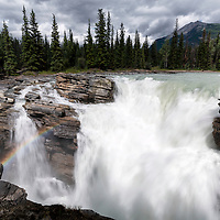 Athabasca Falls, located along the Icefields Parkway in Jasper National Park, Canada