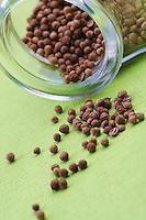 Mustard seeds in jar - studio shot